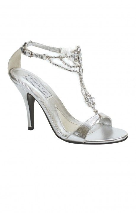 You Ll Feel Like A Princess In These 3 Inch Heels The Sparkling Detailed T Strap Is Ideal For Elongating Y Jeweled Shoes Homecoming Shoes Silver Wedding Shoes