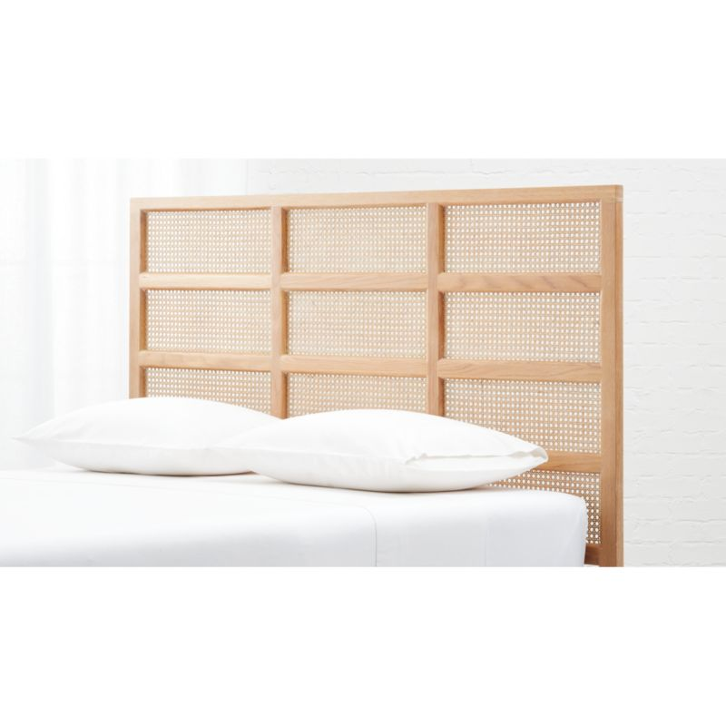 Segment Cane Headboard With Base Options Modernity Redefined