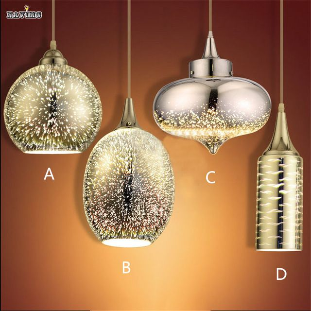 3d Verre Lustres Creative Personnalise Mode Colore Lampe De Table De