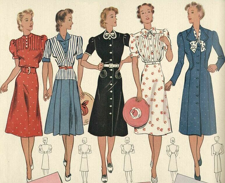 Mode/Damen/1940 | 40s Fashion | Pinterest | 1940er, Damen und Mode