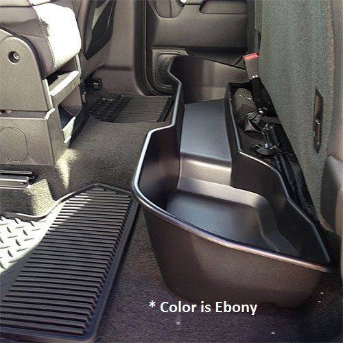 2016 Silverado 3500 Rear Underseat Storage Organizer Ebony