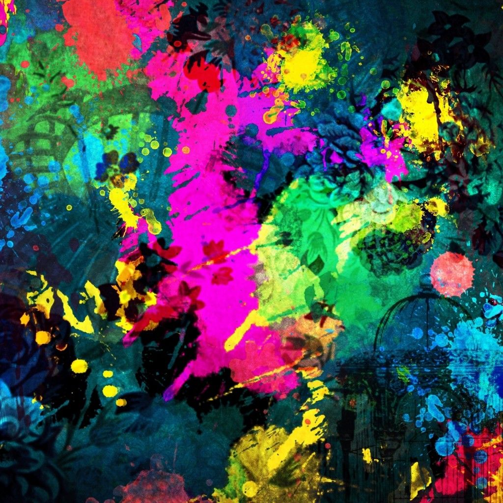 colorful paint splatter ipad wallpaper hd ipad wallpaper