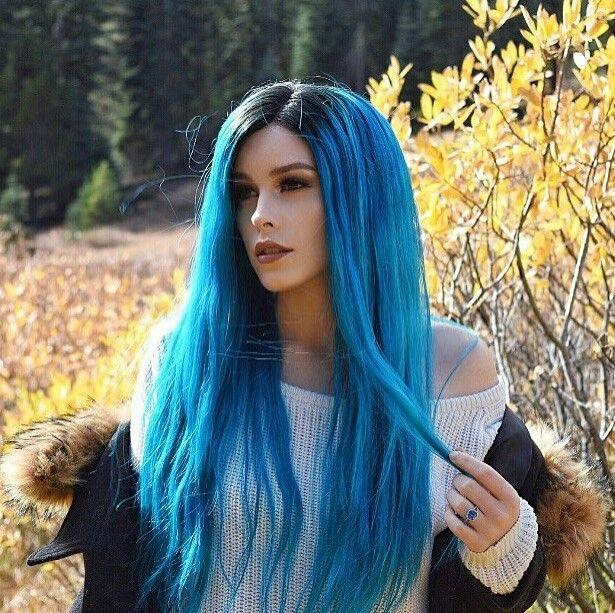 die besten 25 blaue per cke ideen auf pinterest blaue meerjungfrau haar nymphe kost m und. Black Bedroom Furniture Sets. Home Design Ideas