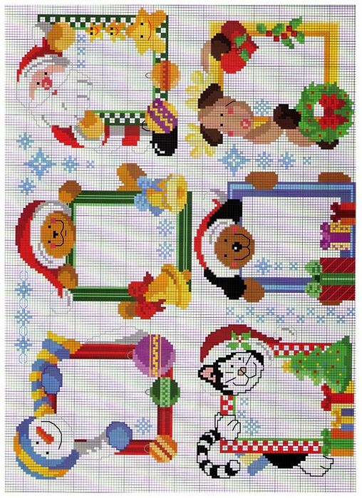 Cross stitch Christmas Frames I would need two more patterns for my