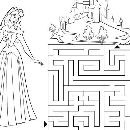 Labyrinthe aurore maze pinterest labyrinthe jeu labyrinthe and jeux - Jeux de coloriage de princesses disney ...