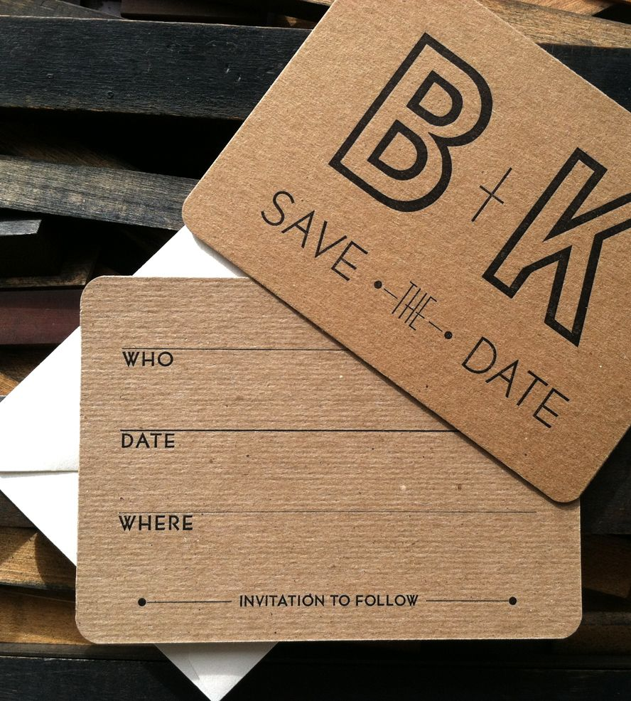 Custom Initial Save the Date Letterpress Cards | These semi-DIY letterpress save the dates allow you to persona... | Wedding Invitations