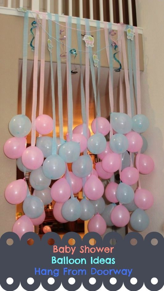 Hang Balloons From Doorway balloons party ideas baby ...