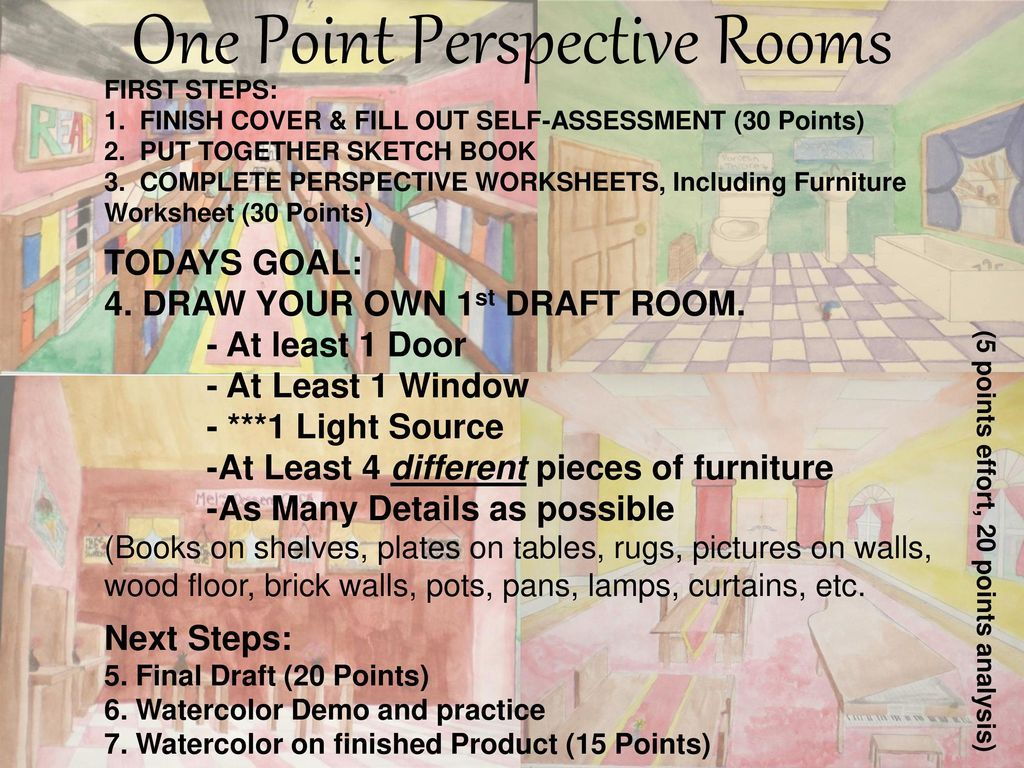 Image Result For One Point Perspective Worksheet