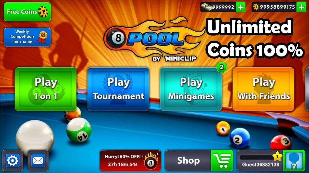 8 Ball Pool Get Unlimited Coins and Dollar 1000% Working ... -