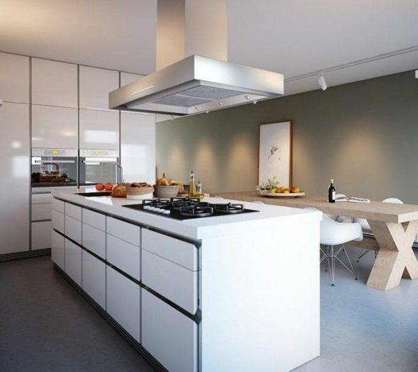 Îles De Cuisine Design Blanc Moderne Cuisine  Cuisines Stunning Modern Kitchen Island Design 2018