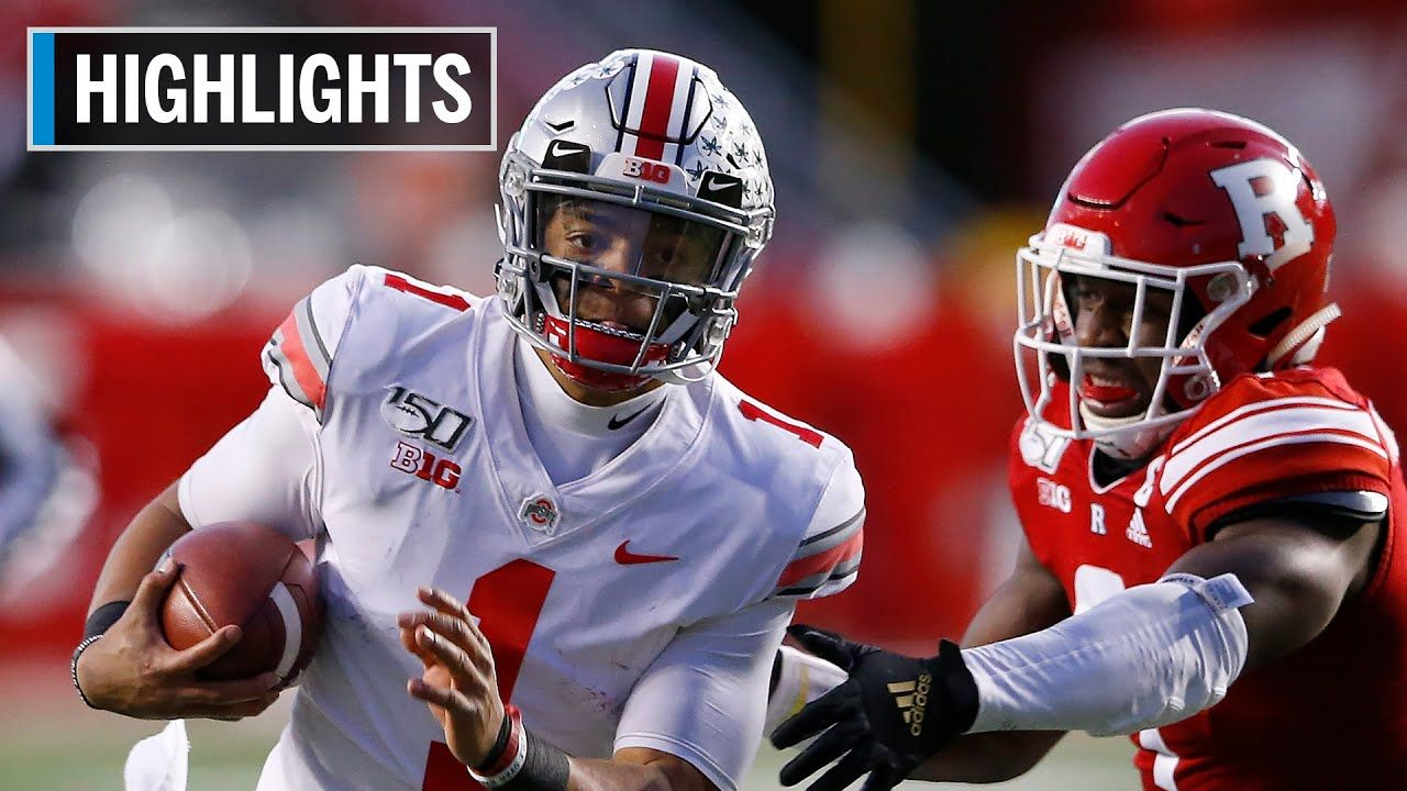 Highlights Fields Throws 4 Touchdowns In Win Ohio State At Rutgers Big Ten Football Ohio State Big Ten