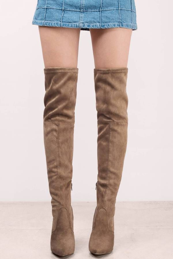 7cf12edc378 Shoes, Tobi, Taupe Aki Suede Knee High Boots | shoes, shoes, shoes ...