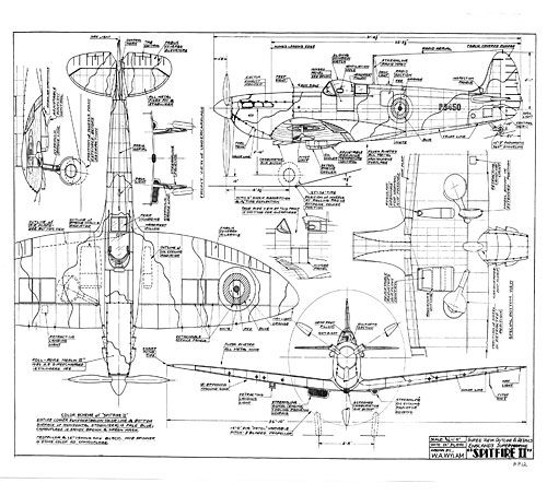 Supermarine Spitfire Free Wylam Drawing Airplanes Pinterest Rhpinterest: Spitfire Airplane Schematics Or Drawings At Gmaili.net