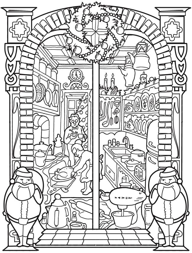 Welcome To Dover Publications Ch Vintage Christmas Windows Pattern Coloring Pages Christmas Coloring Pages Free Coloring Pages