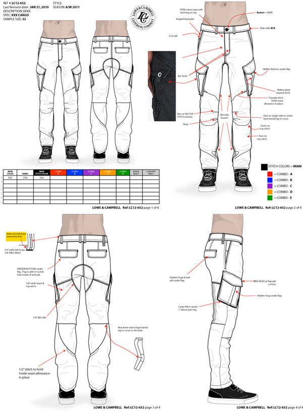 cargo pants tech pack by maurice malone | Things to Wear | Patrones ...