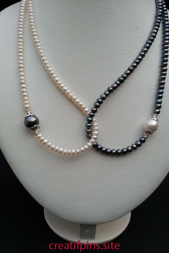 Gold Tone Arco Y Rosa Blanco Collar De Perlas