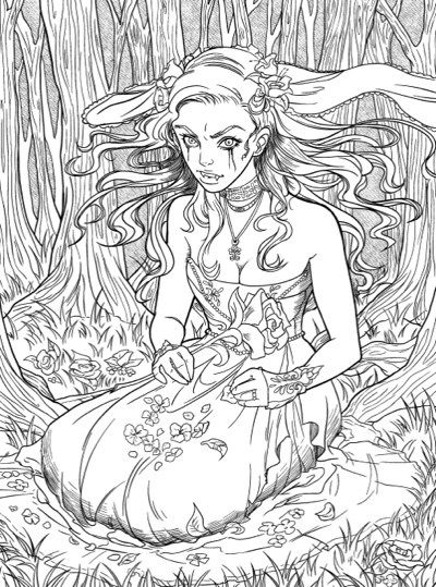 Best Halloween Coloring Books For Adults Summer Coloring Pages Fairy Coloring Pages Cute Coloring Pages