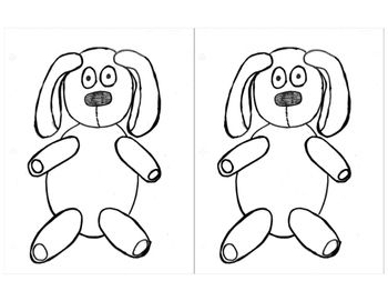 Knuffle Bunny coloring craft for bulletin boards (With