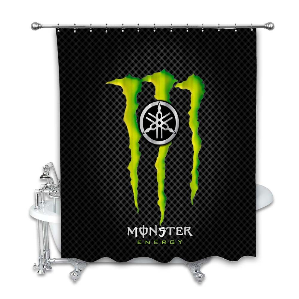 Yamaha Monster Energy Shower Curtain Cheap And Best Quality 100 Money Back Guarantee Monster Energy Monster Fishing Cool Backgrounds [ 1000 x 1000 Pixel ]