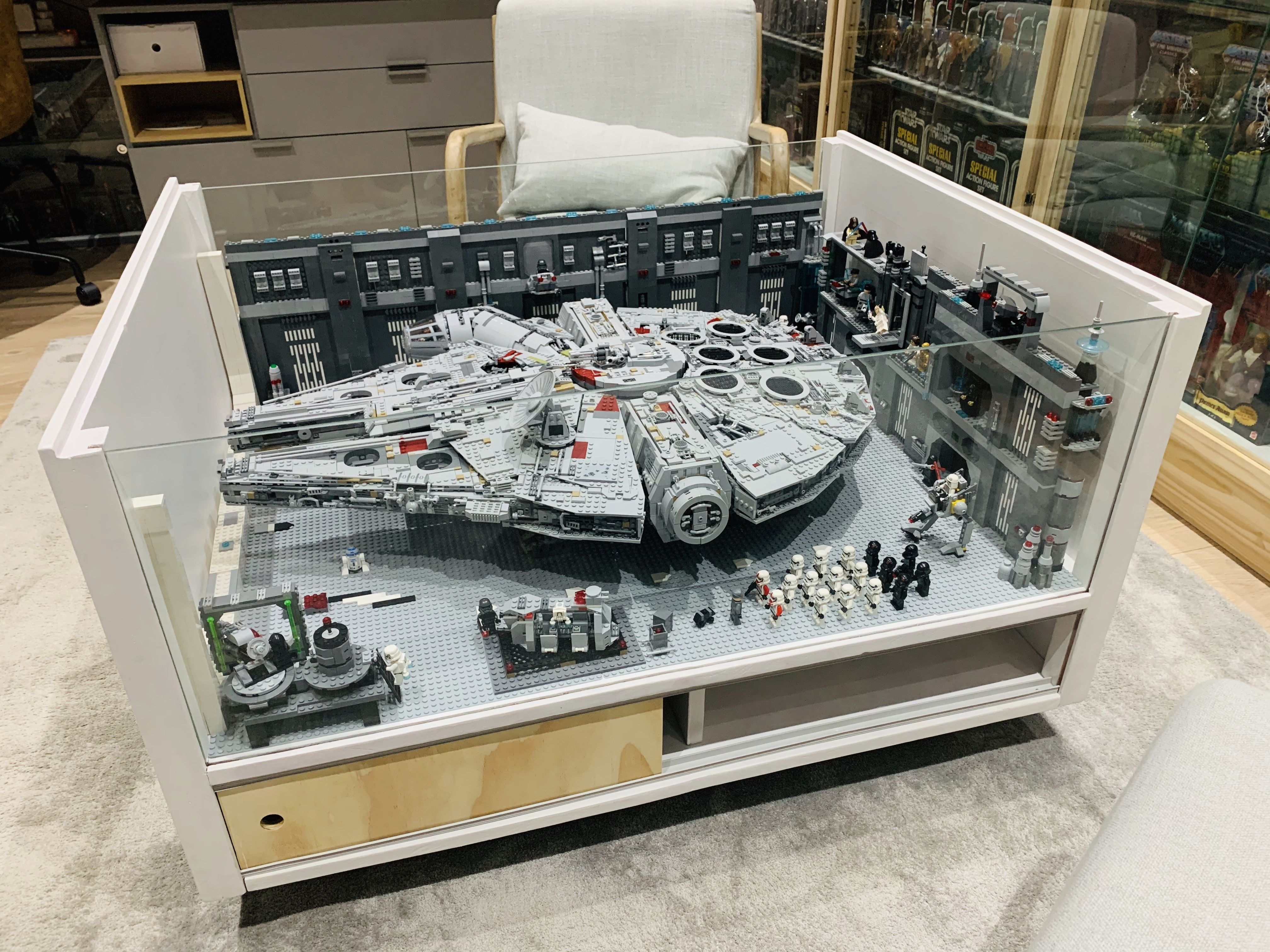 Lego Star Wars Millennium Falcon 75192 Coffee Table Display Star Wars Room Star Wars Painting Star Wars Collection Display [ 3024 x 4032 Pixel ]