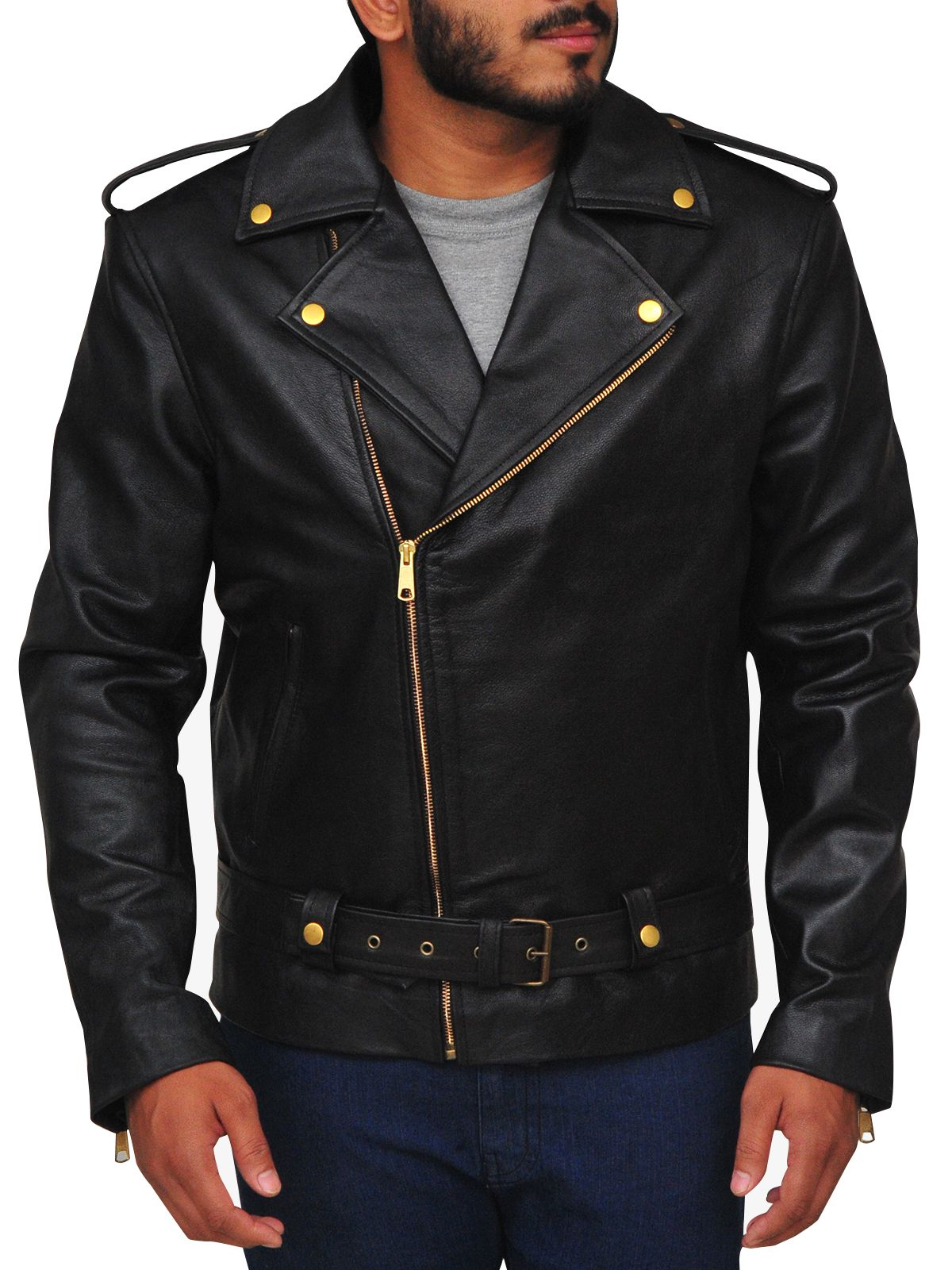 Mauvetree Presents You This Outclass Black Brando Leather Jacket For Men It Is Made Up Of 100 Stylish Leather Jacket Leather Jacket Black Leather Jacket Men