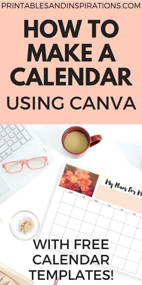 How To Make A Calendar Or Planner Using Canva Journals and