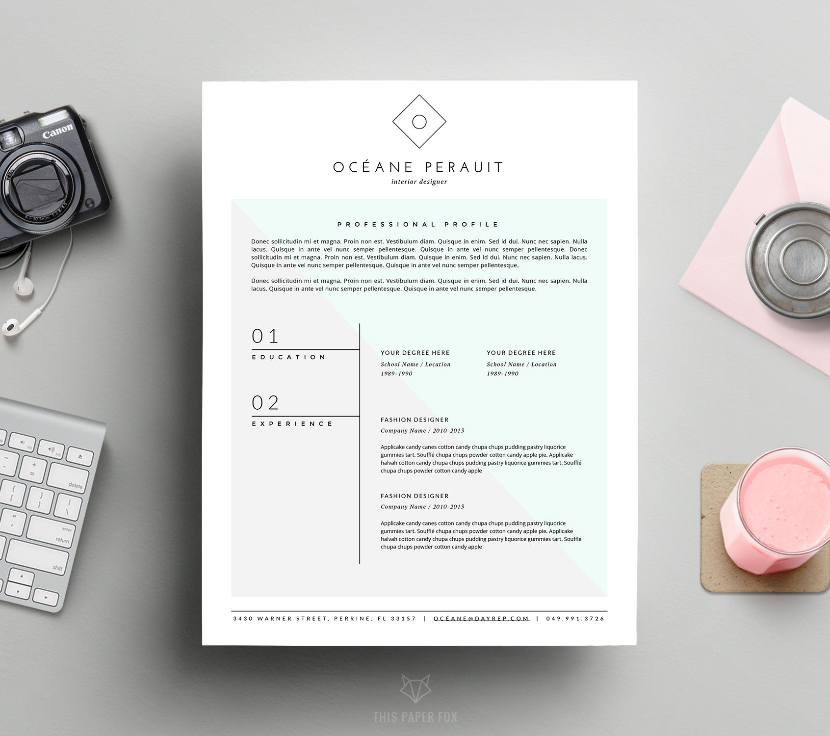 Minimal  Hipster Resume Template We Offer Quality And Thoughtful