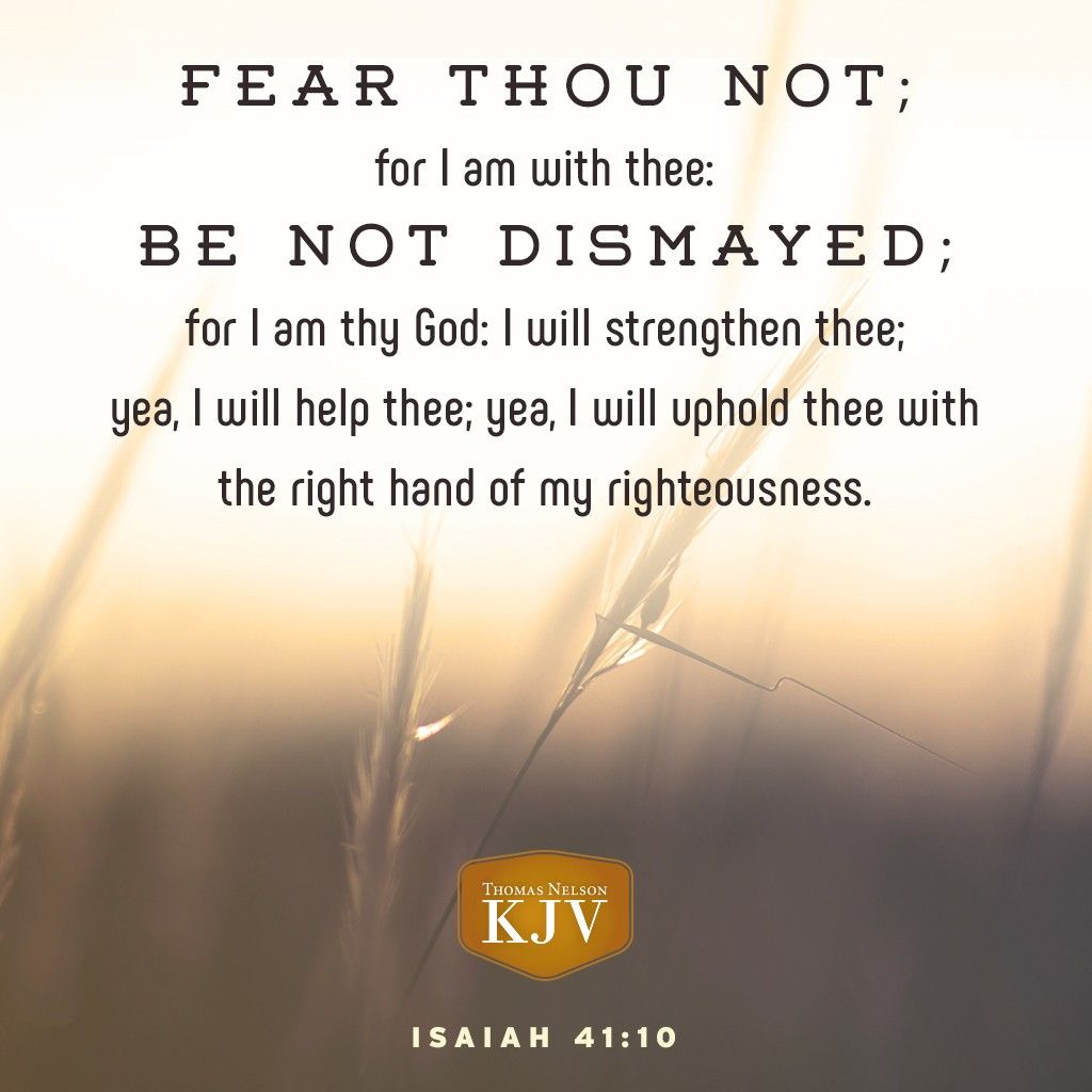KJV Verse of the Day: Isaiah 41:10  praying for your family  | Bible