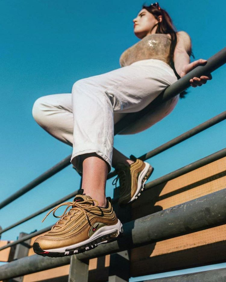 Gold Air Max 97 Outfit : outfit, Iconic, 'Metallic, Gold', Returns, Tomorrow!, @runnerwally, Amazing, Light, During, 'Golden, Outfit,