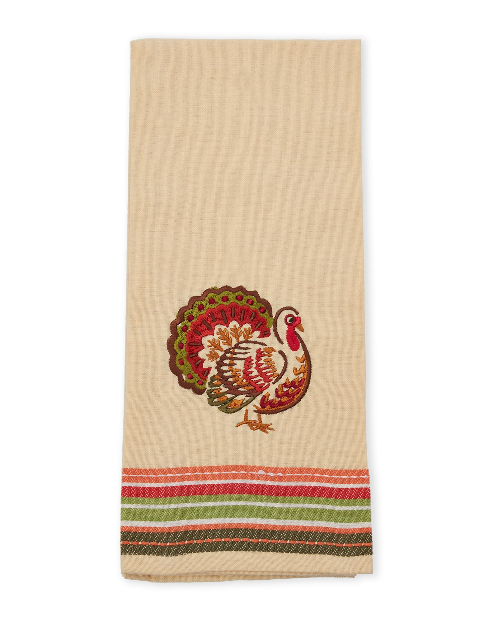 Kay Dee Designs Harvest Blessings Turkey Embroidered Tea Towel