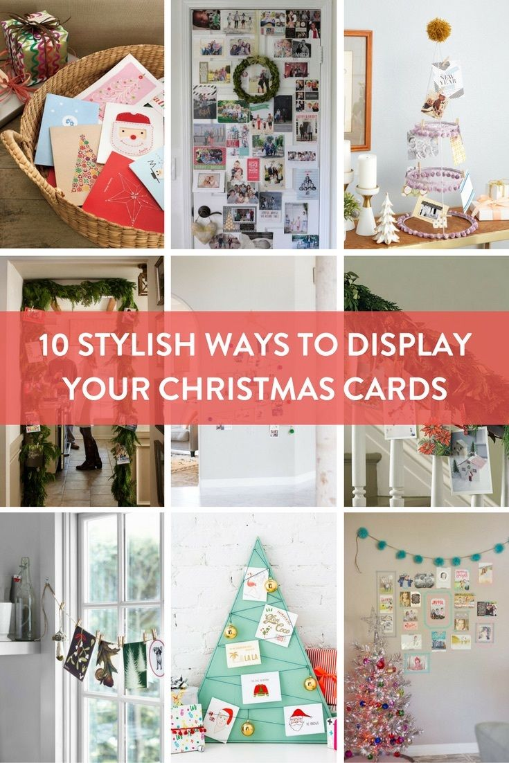 Roundup- 10 Stylish Ways to Display Your Christmas Cards