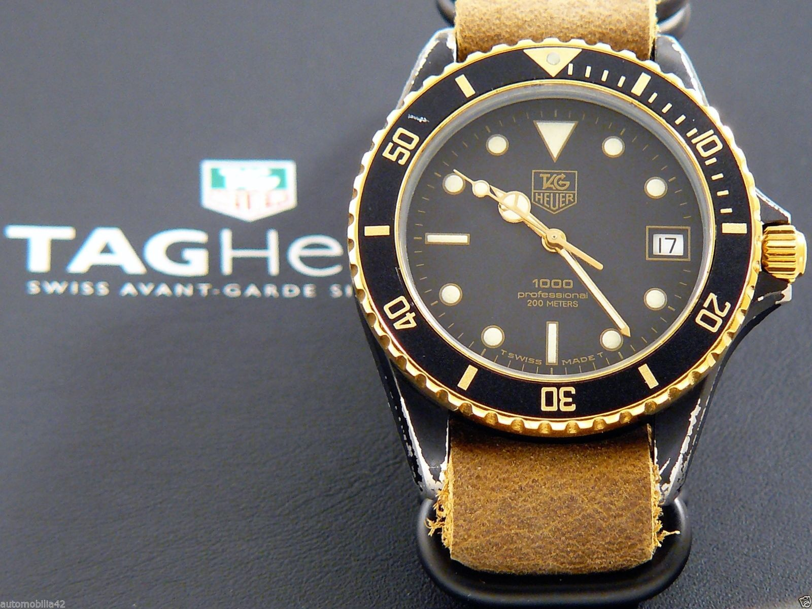 TAG Heuer 1000 Submariner Man Black Coral on Mustard ...