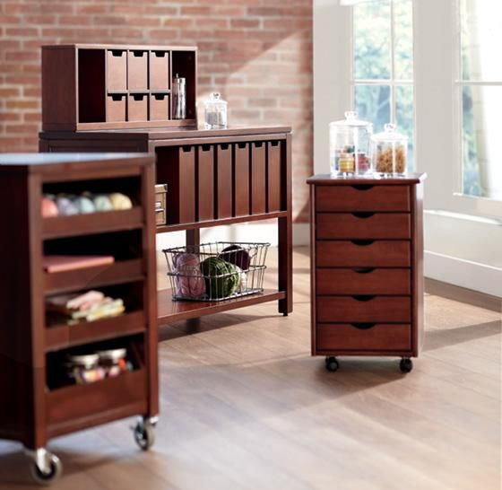 Home Decorators Martha Stewart Craft: Martha Stewart Living™ Craft Space Cart With Pull-Out