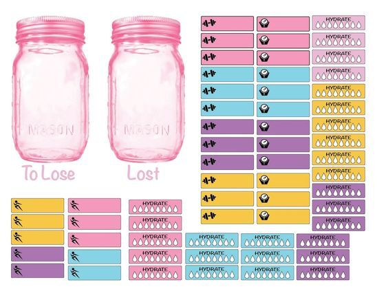 plannerpickett free fitness workout weight loss printables