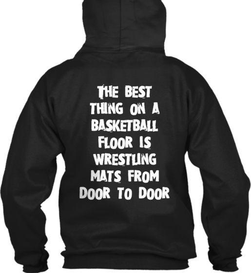 0644c1e8 The best thing on a basketball floor is wrestling mats from door to door
