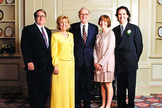 warren buffett family