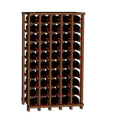 Wineracks.com Premium Cellar Series 50 Bottle Floor Wine Rack Finish: