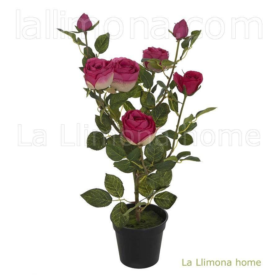 Plantas artificiales con flores planta artificial rosal - Plantas artificiales ...