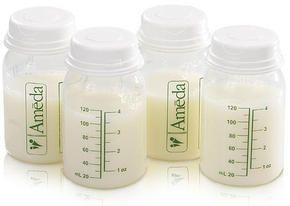 Ens. de 4 bouteilles de rangement pour lait maternel