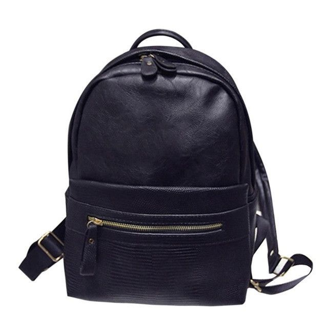 New Fashion Women PU Leather Backpacks Girl School Bag For Teenage High  Quality Designer Women Travel Backpack Zipper Bag 1a6d1a83ed69d