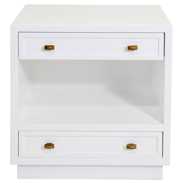 limited production design stock contemporary white nightstand