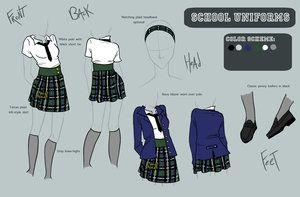 Uniforms Request By Camaryn On Deviantart School Uniform School Uniform Outfits Uniform