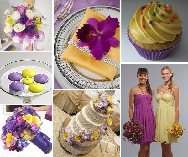 Purple And Yellow Wedding Theme Favors Decorating Ideas