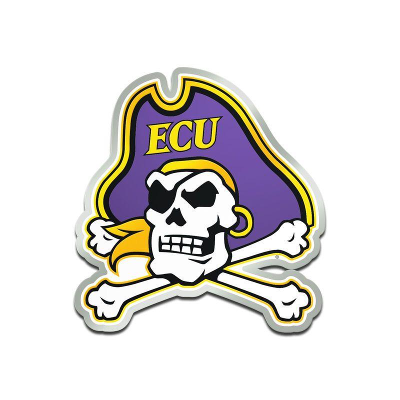new product ae8ad f68d3 East Carolina Pirates Metallic Freeform Logo Auto Emblem