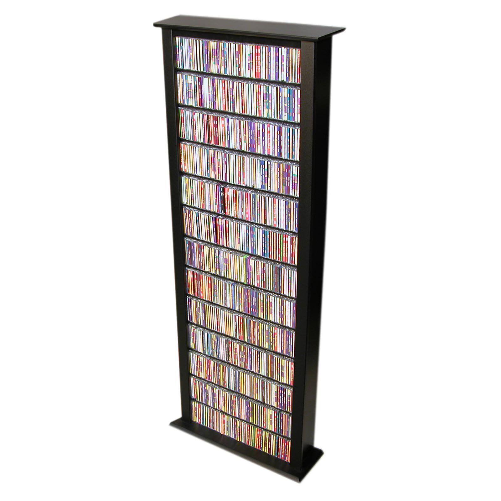 Venture Horizon Media Storage Tower Tall Single Black Media