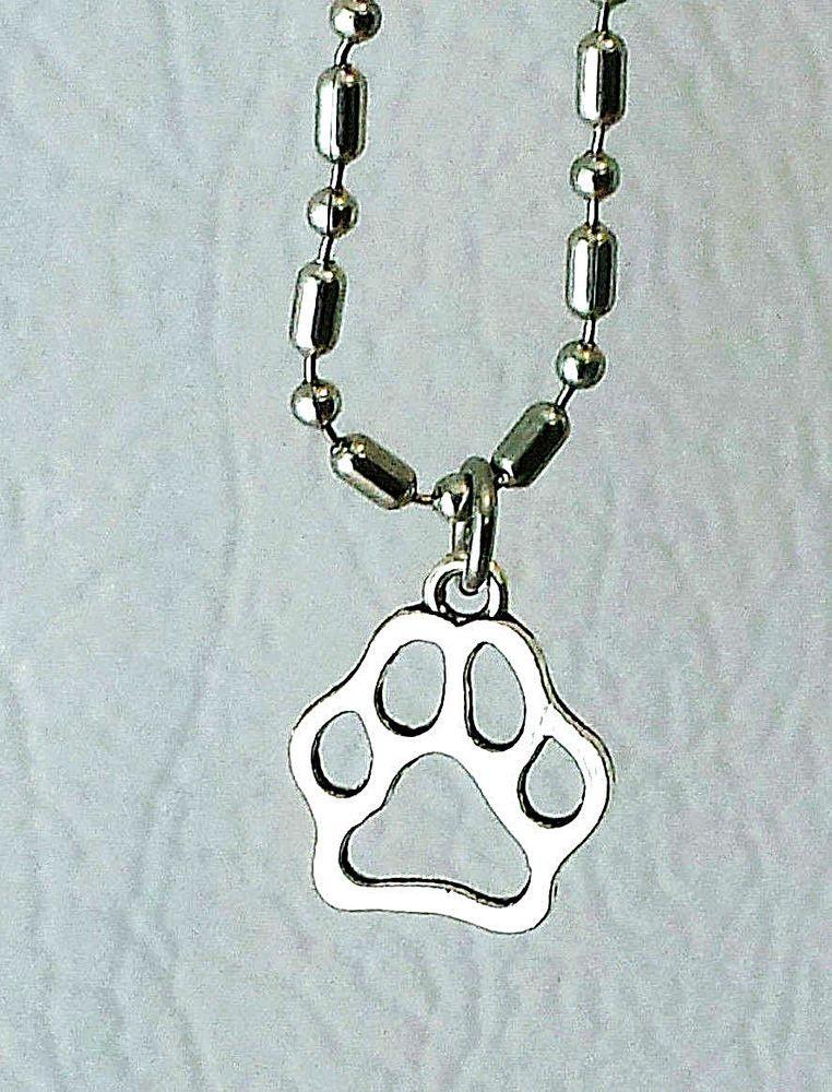 Collier Pendentif · Dog s Paw Print Necklace Handmade Unisex Men s Jewelry  Ball Chain Dad  HandmadewithLove  Pendant 9e81dca2426f