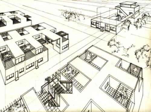 le corbusier osiedle pessac k bordeaux le corbusier pinterest bordeaux and le corbusier. Black Bedroom Furniture Sets. Home Design Ideas