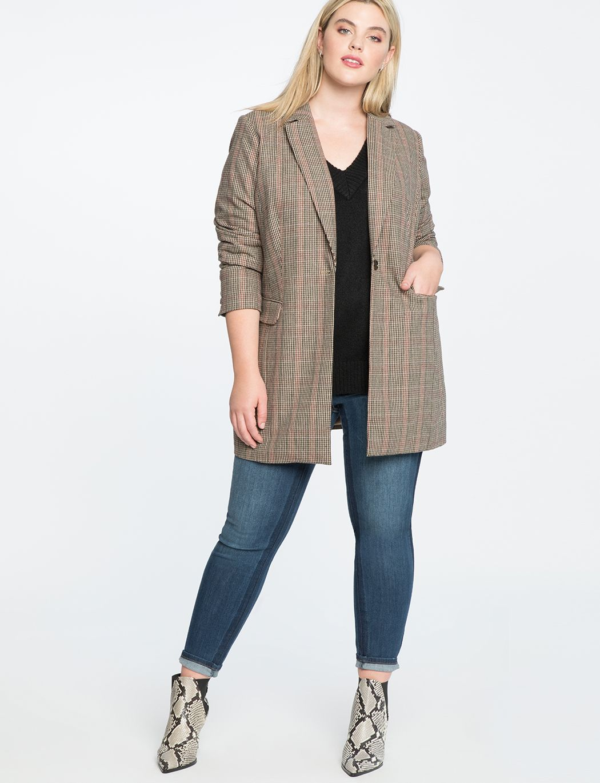 Long Plaid Jacket Women S Plus Size Coats Jackets Eloquii Plaid Jacket Women Plus Size Coats Plaid Jacket [ 1370 x 1050 Pixel ]
