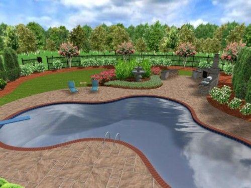 3D Backyard Landscape Design Snellville Georgia Small 400 x 300