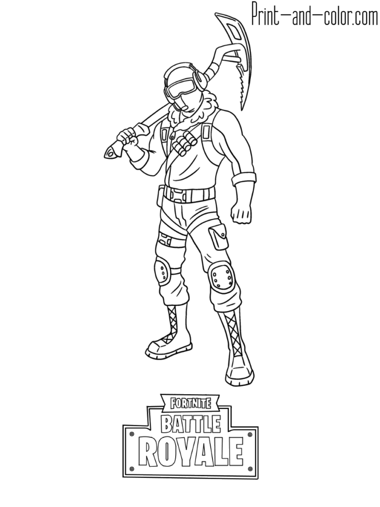 Fortnite Battle Royale Coloring Page Frostbite Skin Coloring Pages Fortnite Character Design